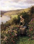waiting by daniel ridgway knight painting