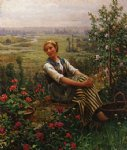 woman at rest by daniel ridgway knight painting