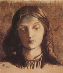 portrait paintings - portrait of elizabeth siddal by dante gabriel rossetti