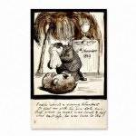 dante gabriel rossetti rossetti lamenting the death of his wombat poster