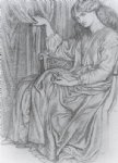 dante gabriel rossetti silence painting