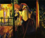 dante gabriel rossetti sir galahad at the ruined chapel painting