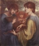 dante gabriel rossetti the bower meadow ii painting