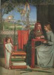 dante gabriel rossetti the girlhood of mary virgin ii painting