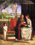 dante gabriel rossetti the girlhood of mary virgin painting