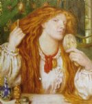 dante gabriel rossetti woman combing her hair oil paintings
