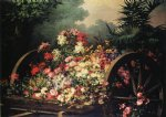 desire de keghel a cart of wild flowers painting 35660
