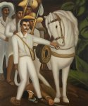 agrarian leader zapata by diego rivera painting