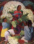 mercado de flores (the flower vendor) by diego rivera painting