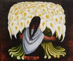 the flower seller by diego rivera painting