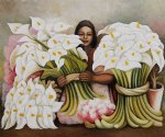 vendedora de alcatraces by diego rivera painting