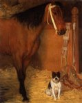 edgar degas at the stables horse and dog painting 35188