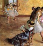 edgar degas ballet class the oil painting