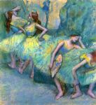 edgar degas ballet dancers in the wings painting-85477