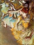 edgar degas ballet dancers on the stage painting
