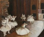 edgar degas ballet rehearsal on the stage oil painting