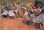 ballet oil paintings - ballet scene iii by edgar degas
