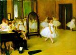 dance oil paintings - dance class by edgar degas