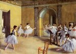 edgar degas paintings - dance class at the opera by edgar degas