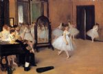 edgar degas paintings - dance class by edgar degas