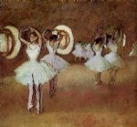 edgar degas paintings - dance rehearsal in thestudio of the opera by edgar degas