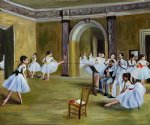 edgar degas paintings - dance studio at the opera by edgar degas