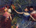 edgar degas dancer and tambourine painting