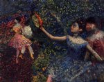 dancer and tambourine by edgar degas painting