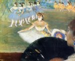 dancer with a bouquet of flowers by edgar degas painting
