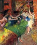 dancers in the wings ii by edgar degas painting