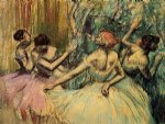 edgar degas paintings - dancers in the wings by edgar degas