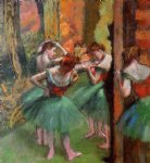 dancers pink and green by edgar degas painting