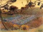 edgar degas field of flax painting