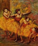 edgar degas four dancers painting