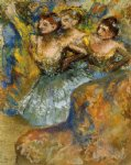 edgar degas group of dancers ii painting