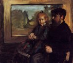 edgar degas henri rouart and his daughter helene painting