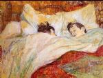 in bed by edgar degas painting