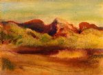 lake and mountains by edgar degas painting