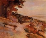landscape by the sea by edgar degas painting