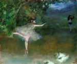 les pointes by edgar degas painting