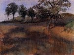 edgar degas plowed field painting