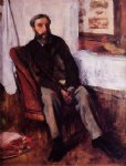 portrait paintings - portrait of a man by edgar degas