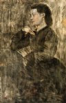 edgar degas portrait of a woman ii painting