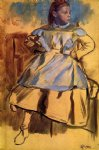 portrait paintings - portrait of giulia bellelli sketch by edgar degas