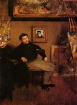 portrait paintings - portrait of james tissot by edgar degas