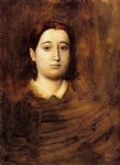 portrait paintings - portrait of madame edmondo morbilli nee therese de gas ii by edgar degas