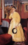 portrait paintings - portrait of madame edmondo morbilli nee therese de gas by edgar degas