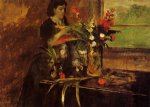 portrait paintings - portrait of mme. rene de gas nee estelle musson by edgar degas