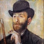 portrait paintings - portrait of zacherie zacharian by edgar degas