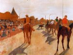edgar degas racehorses before the stands paintings
